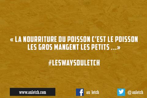#LesWaysDuLetch : la nourriture du poisson …
