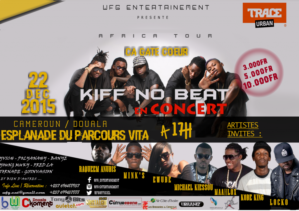 Le groupe de rap kiff no beat en concert au cameroun for Black k kiff no beat