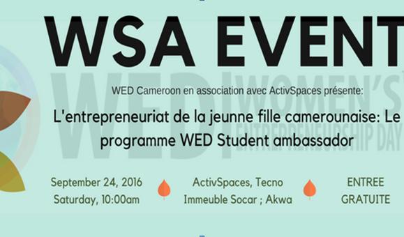 LE « WED STUDENT AMBASSADOR EVENT » VOUS DONNE RENDEZ VOUS LE 24 SEPTEMBRE 2016