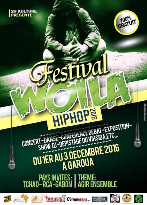 Ne manquez pas la 6eme édition du Woila Hip Hop Festival du 1er au 03 décembre 2016