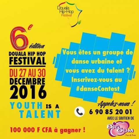 Douala Hip Hop Festival 2016 : Tentez de gagner 100 000 FCFA au Dance Contest
