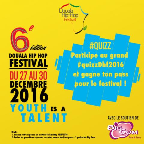 Douala Hip Hop Festival 2016 : C'est parti pour le Quizz !