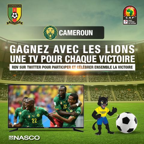 Jumia fait win une télé pour chaque match gagné des lions à la CAN