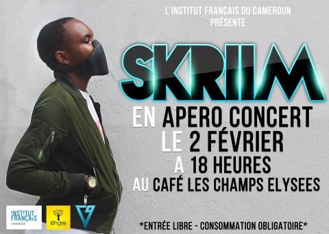 #EDM237 : Skriim en Apéro Concert le 2 février au Café Les Champs Elysées sis à IFC de Douala