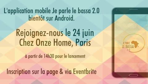 L'application mobile «Je parle Le Bassa 2.0» sera disponible le 24 juin 2017