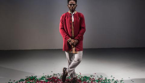 Alexander II Akande, le designer camerounais qui a représenté le Cameroun à l'African Fashion Week de Lagos.