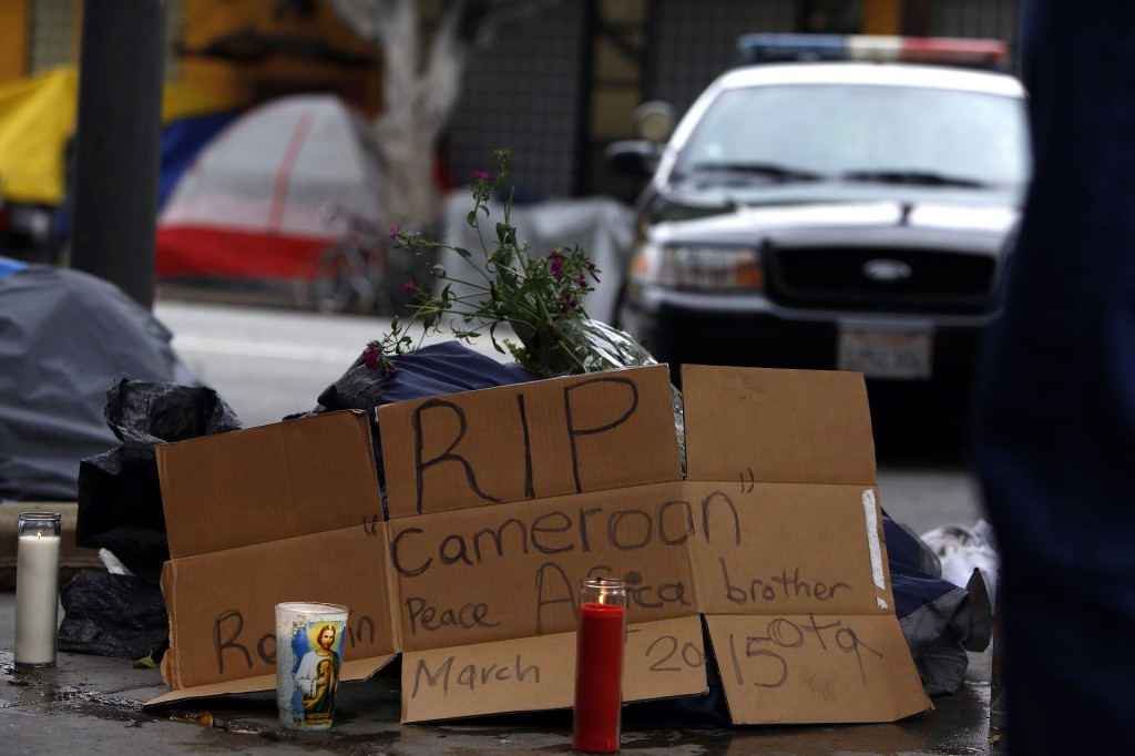 Fatal Shooting By Los Angeles police of a Homeless Man