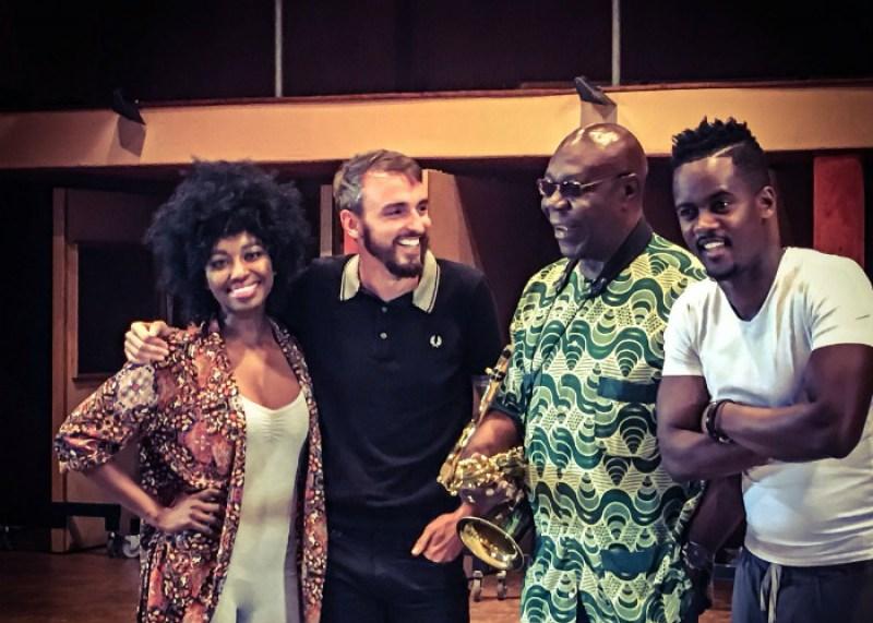 De gauche à droite : Inna Modja, Christophe Willem, Manu Dibango et Black M