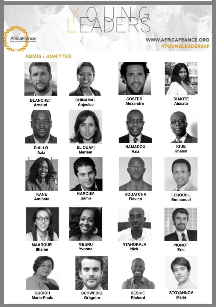 visages des jeunes retenus pour les Young Leaders